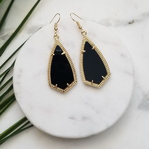5 for $25 Gold and Black Geometric Earrings